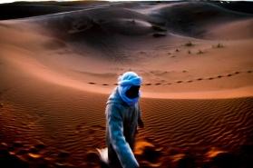 Morocco, Merzouga, desert dunes